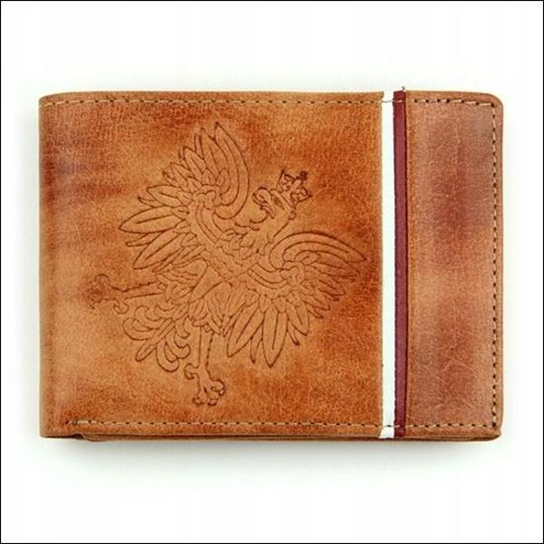 Чоловічий гаманець шкіряний світло-коричневий 682