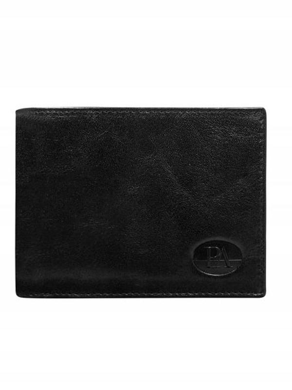 Чоловічий гаманець шкіряний чорний 146