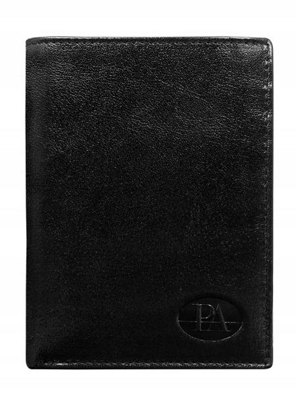 Чоловічий гаманець шкіряний чорний 349