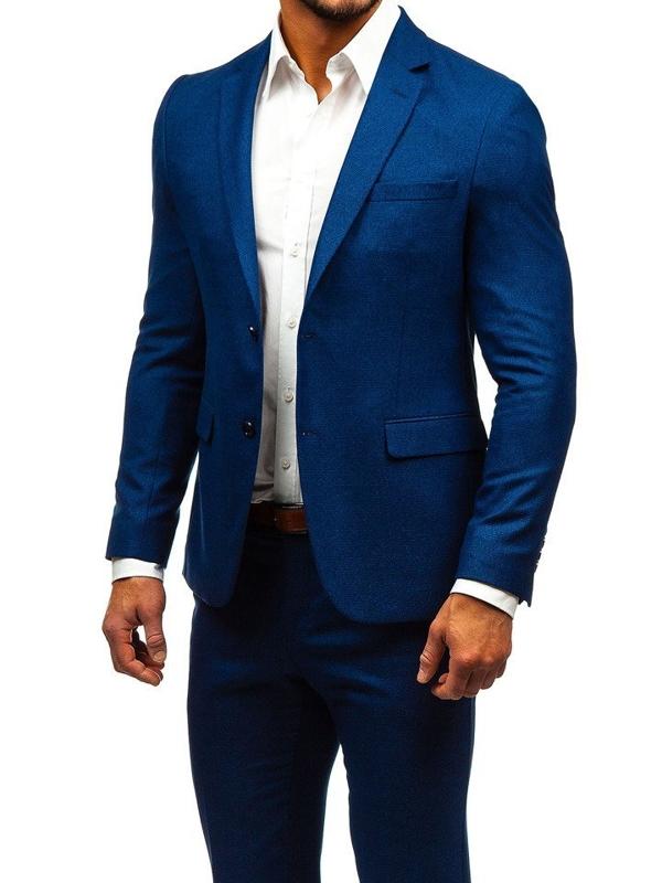 Чоловічий костюм темно-синій Bolf 171000-1