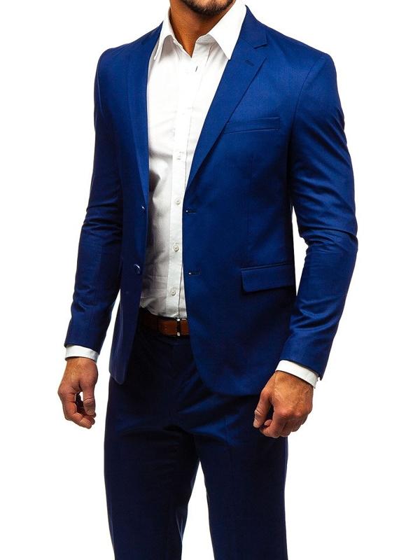 Чоловічий костюм індиго Bolf 172000