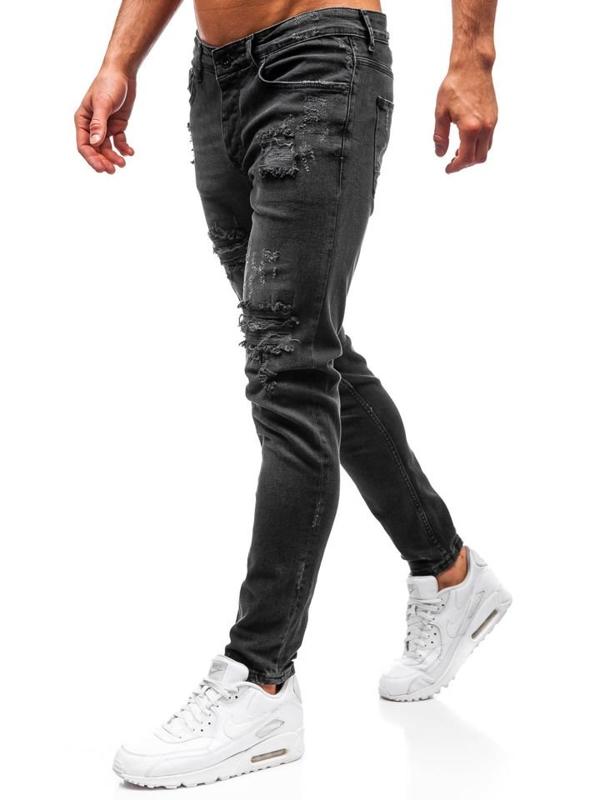 Чоловічі джинсові штани антрацитові Bolf 1018
