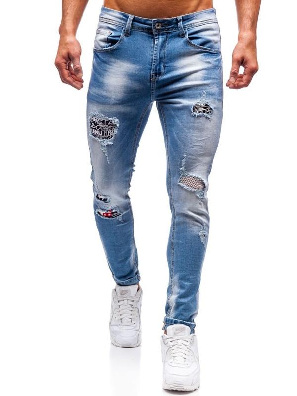 Чоловічі джинсові штани сині Bolf 3940