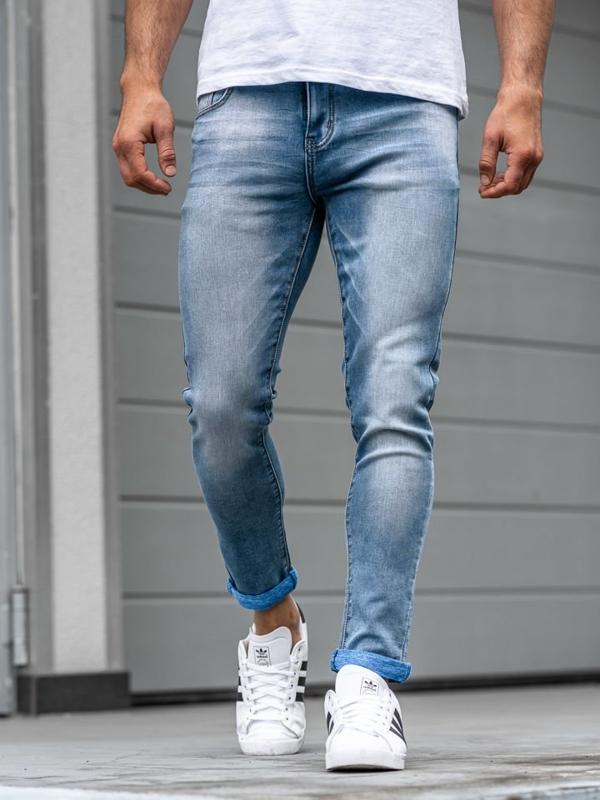 Чоловічі джинсові штани сині Bolf KX160