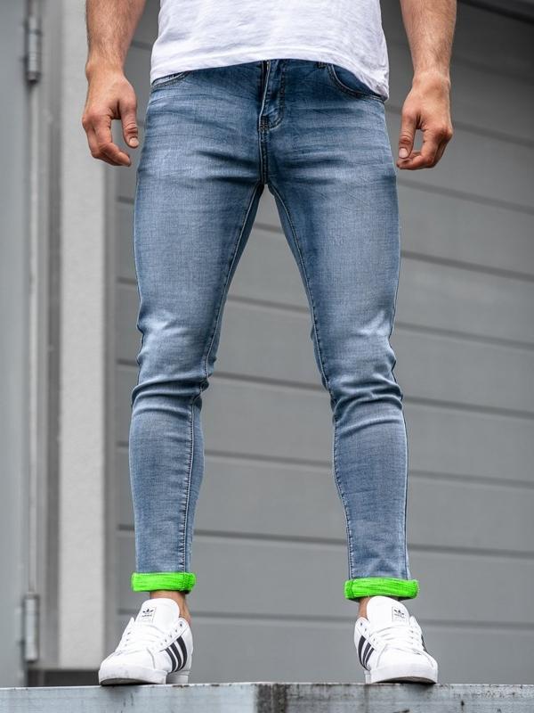 Чоловічі джинсові штани сині Bolf KX162