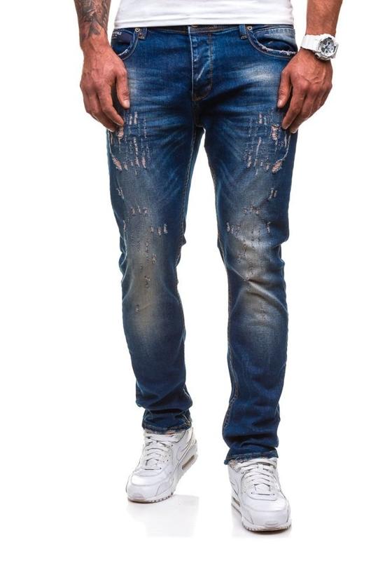 Чоловічі джинсові штани темно-сині Bolf 4838-1(1017)