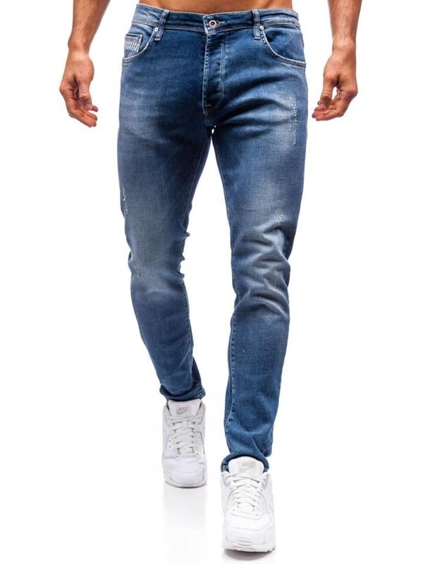Чоловічі джинсові штани темно-сині Bolf 7161