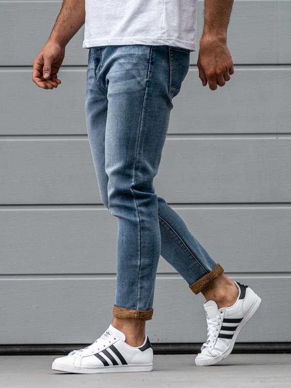 Чоловічі джинсові штани темно-сині Bolf KX163