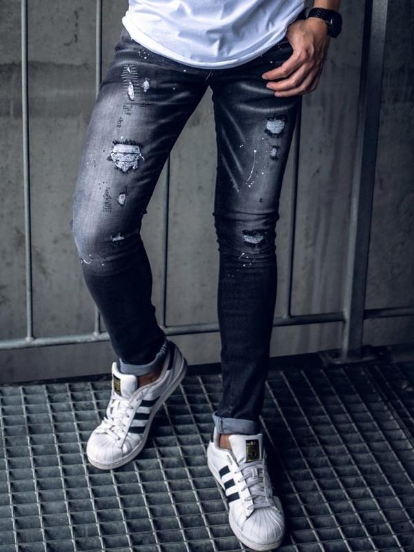 Чоловічі джинсові штани чорні Bolf 9234
