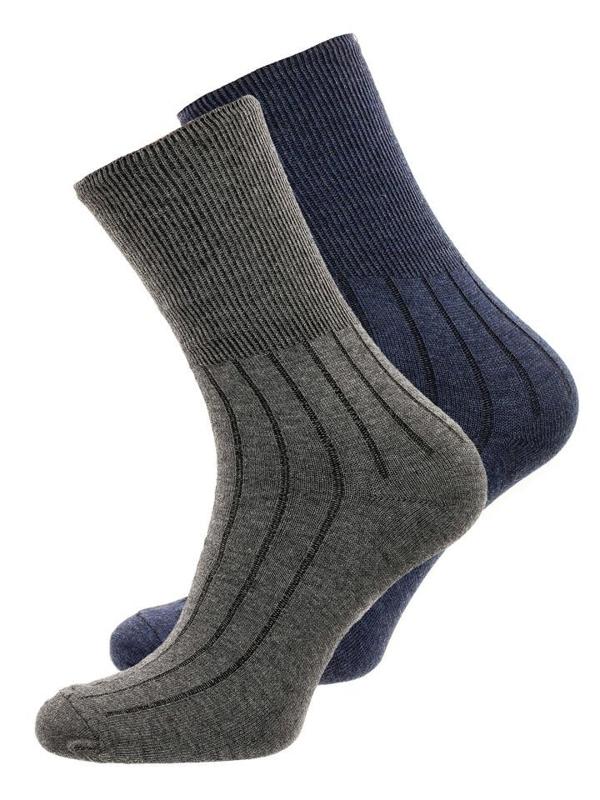 Чоловічі шкарпетки темно-синьо-сірі Bolf X10014-2P 2 PACK