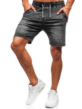 Шорти джинсові чоловічі графітові Bolf KK103