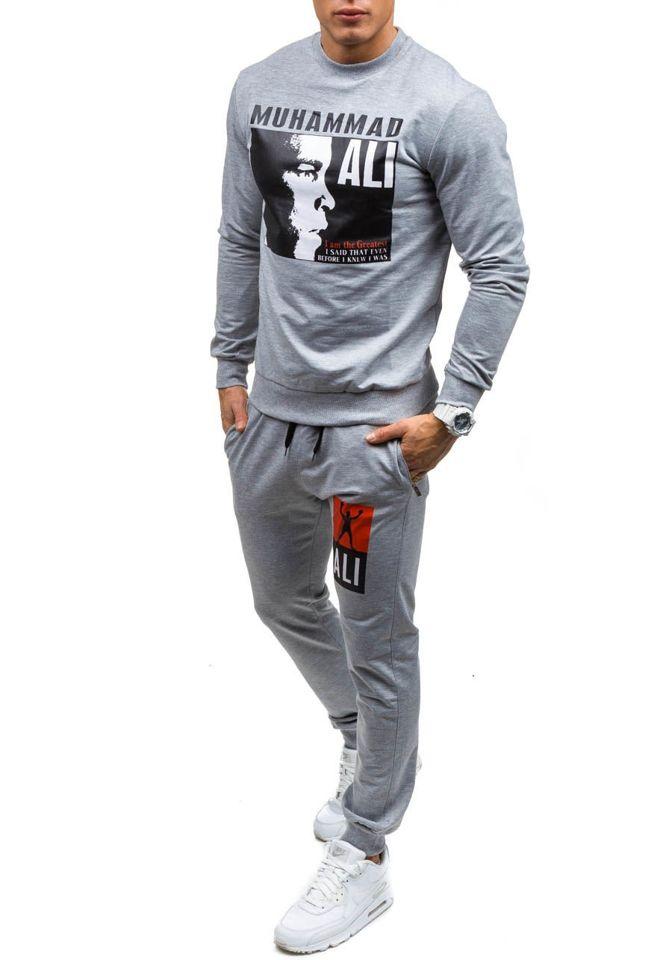 Спортивний костюм чоловічий ATHLETIC 0362 сірий SZARY cd0b52588213a