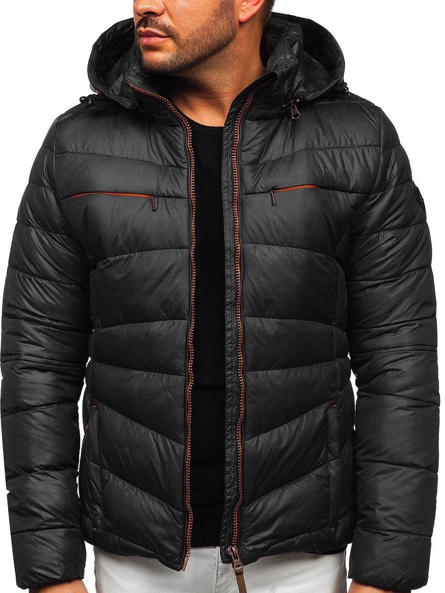 Чоловіча зимова куртка чорна Bolf 5537 ЧОРНИЙ 169d588f91a1f