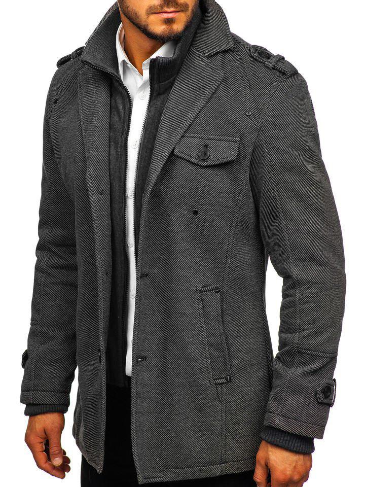 Чоловіче зимове пальто сіре Bolf 88801 5a8844b6c0bbe