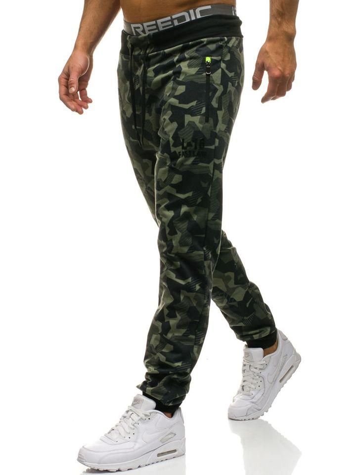 Чоловічі джинсові штани джогери зелені Bolf W1117 ЗЕЛЕНИЙ c005286dd3d5a