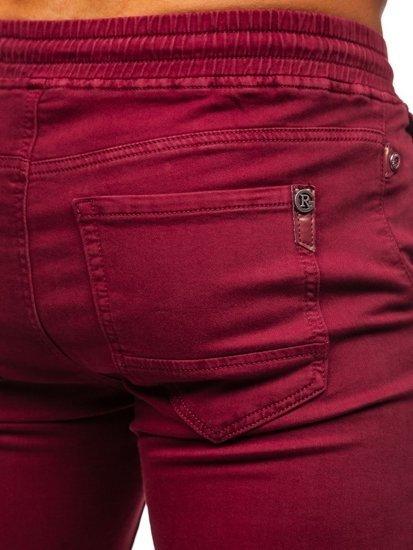 Бордові чоловічі штани джоггери Bolf CT8808