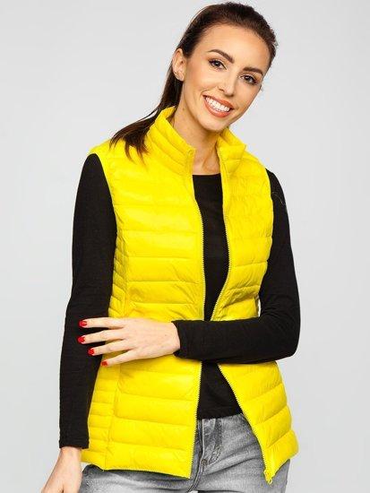 Жовтий стьобаний жіночий жилет Bolf 23038