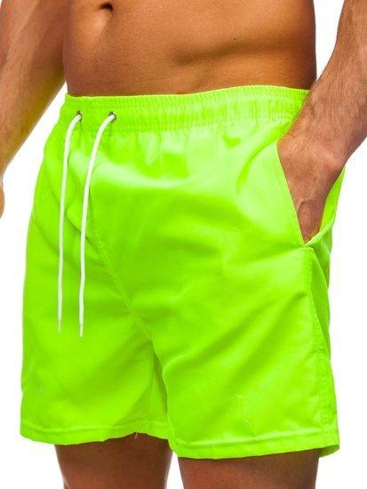 Жовто-неонові чоловічі пляжні шорти YW02001