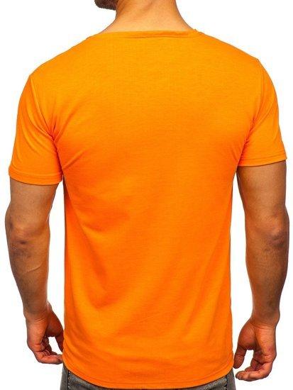 Помаранчева чоловіча футболка з принтом Bolf Y70005