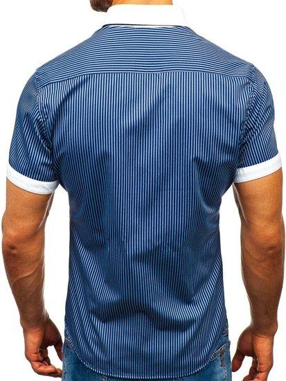 Сорочка чоловіча BOLF 1808 темно-синя