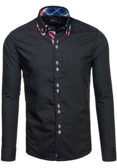 Сорочка чоловіча BOLF 4704 чорна