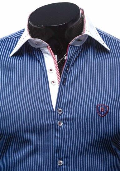 Сорочка чоловіча BOLF 4784-1 темно-синя