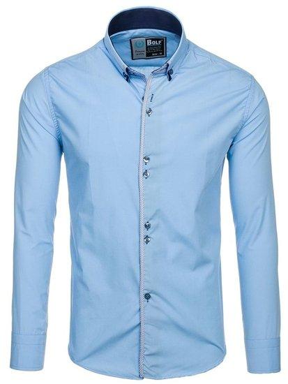 Сорочка чоловіча BOLF 5811 блакитна