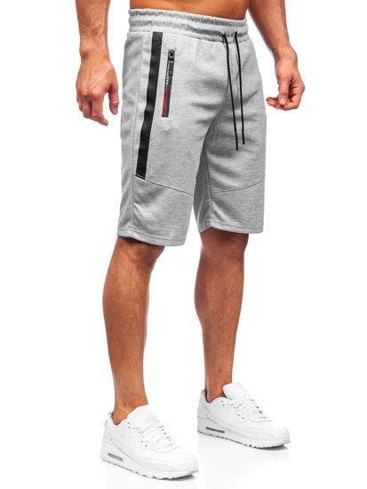 Сірі чоловічі спортивні шорти Bolf JX137