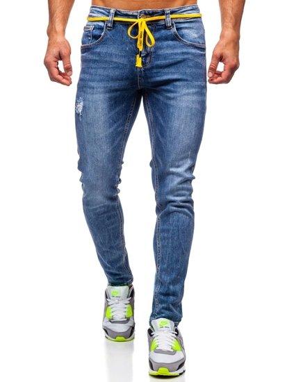 Темно-сині чоловічі джинси skinny fit Bolf KX565