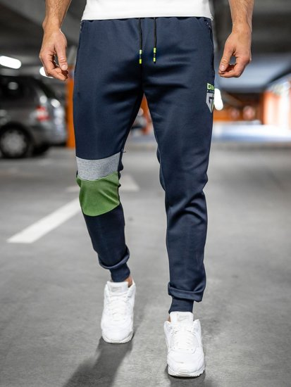 Темно-сині чоловічі спортивні штани Bolf K10122