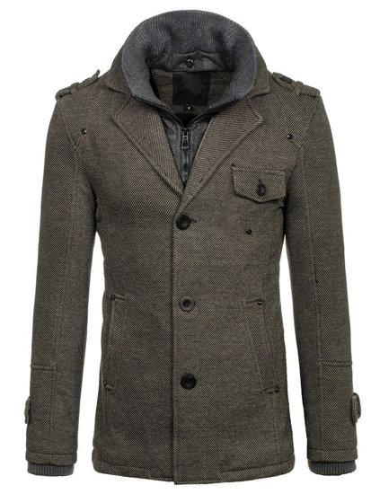 Чоловіче зимове пальто сіре Bolf 88801