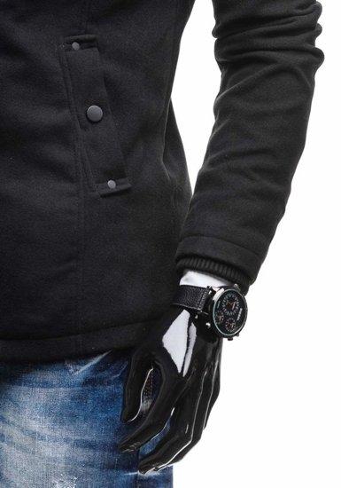 Чоловіче пальто чорне Bolf 8853C