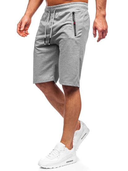 Чоловічі сірі спортивні шорти Bolf JX505