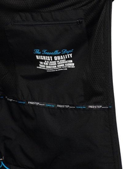 Чорно-синя чоловіча куртка софтшелл Bolf WX063