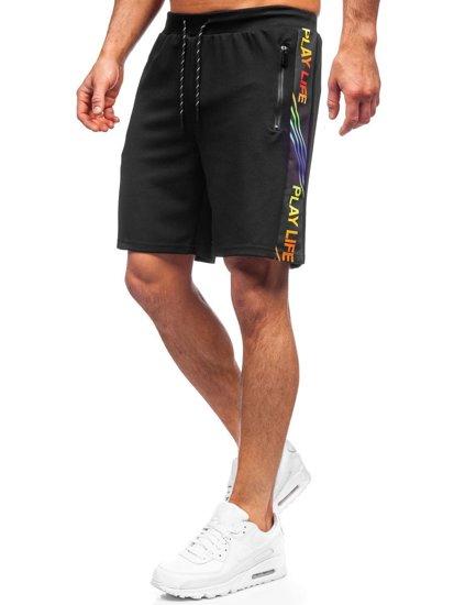 Чорні чоловічі спортивні шорти Bolf KS2592
