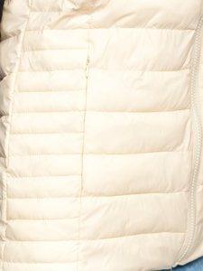 Бежевий стьобаний жіночий жилет Bolf 23038