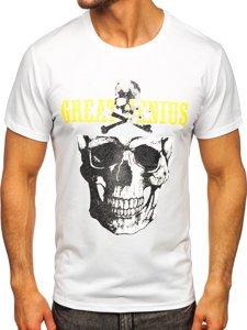 Біла чоловіча футболка з принтом Bolf Y70005
