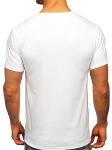 Біла чоловіча футболка з принтом Bolf Y70008