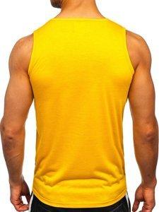 Жовта футболка танк топ з принтом Bolf HY816