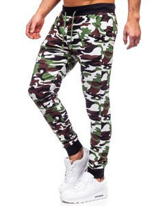 Зелені чоловічі спортивні штани камуфляж Bolf 5958