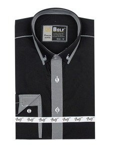 Сорочка чоловіча BOLF 5800 чорна