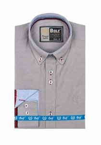 Сорочка чоловіча BOLF 5801 сіра
