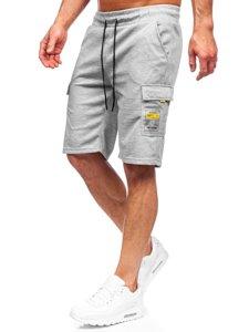 Сірі чоловічі спортивні шорти карго Bolf JX167