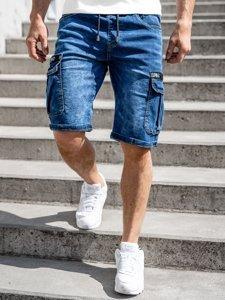 Темно-сині джинсові шорти чоловічі карго Bolf K15006