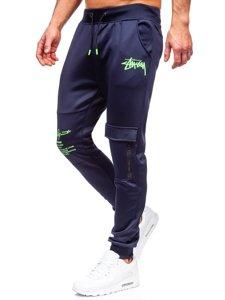 Темно-сині чоловічі спортивні штани карго Bolf K10286