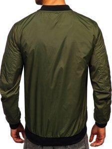 Хакі чоловіча демісезонна куртка бомбер Bolf M10291
