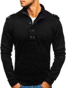 Чоловічий светр з високою горловиною чорний Bolf 1132