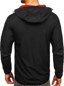 Чорна вітровка чоловіча спортивна куртка Bolf HM091