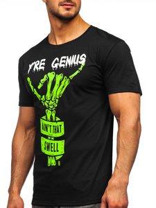 Чорна чоловіча футболка з принтом Bolf Y70003