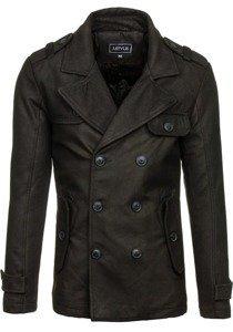 Чорне чоловіче зимове пальто Bolf 3123